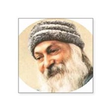 "OSHO OVAl  2 Square Sticker 3"" x 3"""