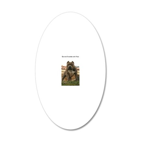 5minutes_vick_lgframed 20x12 Oval Wall Decal