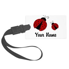 Ladybugs Red Personalized Luggage Tag