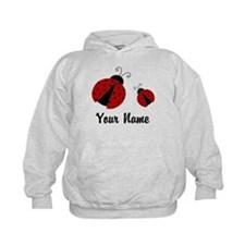 Ladybugs Red Personalized Hoodie