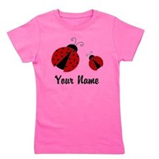 Ladybugs Red Personalized Girl's Tee