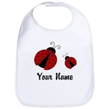 Ladybugs Red Personalized Bib