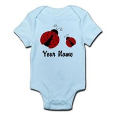 Ladybugs Red Personalized Body Suit