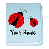 Lady bug baby personalized Cotton