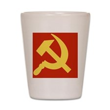 Communist_CapB Shot Glass