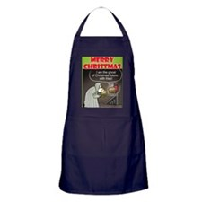 Christmas Ghost Apron (dark)