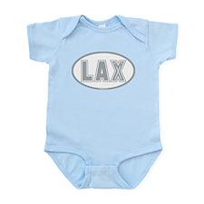 Lacrosse Lax Oval Gray Infant Bodysuit