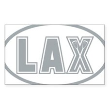 Lacrosse Lax Oval Gray Decal