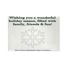 SPN Xmas Card Inside Rectangle Magnet