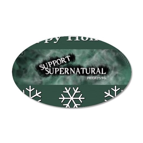 SPN Xmas Card Front 35x21 Oval Wall Decal