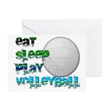 Eat sleep volly 2 png Greeting Card