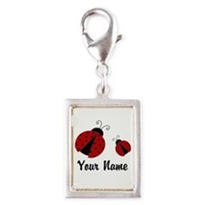 Ladybugs Red Personalized Charms