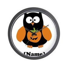 Personalized Halloween Owl Wall Clock