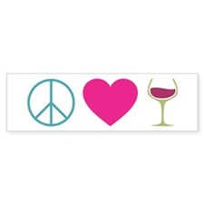 Peace Love Wine Stickers