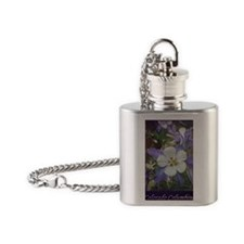 Columbines gc Flask Necklace