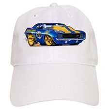 MM69camaroBluHdFloat Baseball Cap