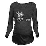 Nick Nora Dark Long Sleeve Maternity T-Shirt
