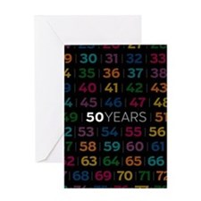Anniversary Card: 50 Years Greeting Cards