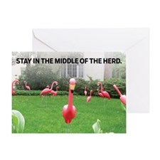 Stay In The Middle Of The Herd Greeting Cards