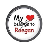 My heart belongs to raegan Wall Clock