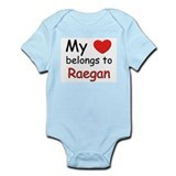 My heart belongs to raegan Infant Bodysuit