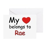 My heart belongs to rae Greeting Cards (Package of