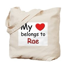 My heart belongs to rae Tote Bag