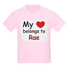 My heart belongs to rae Kids T-Shirt