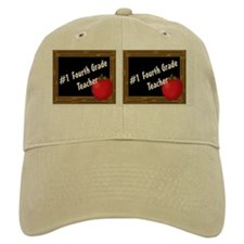 #1 Fourth Grade Teacher 2 Baseball Cap
