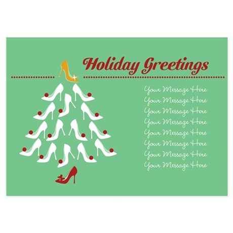 Shoe Christmas Tree Customizable Invitations