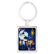 Peace On Earth PosterP Portrait Keychain