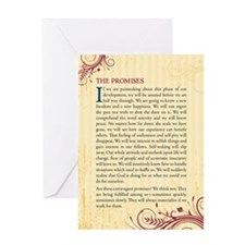 The Promises of Alcoholics Anonymous Greeting Card