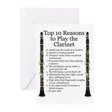 Clarinet Top 10 Greeting Cards (Pk of 10)