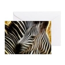 Zebra Love Greeting Card