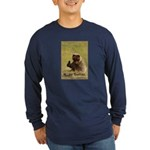 B..air guitar Long Sleeve Navy T-Shirt