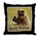 B..air guitar Throw Pillow