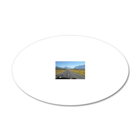 2-2-3500_Heading to Mt Cook  20x12 Oval Wall Decal