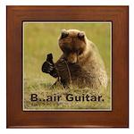 B..air guitar Framed Tile