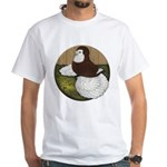 Baldhead English Trumpeter White T-Shirt