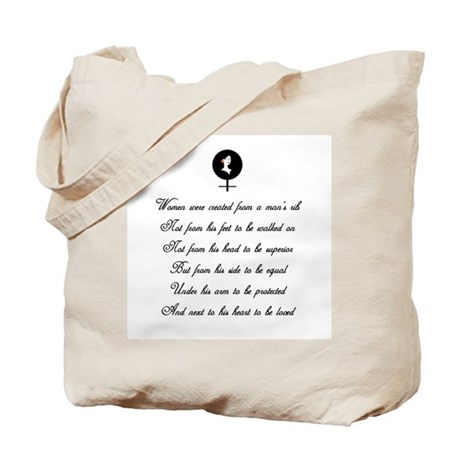Women were Created Tote Bag