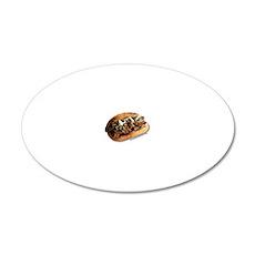 steaksandwich 20x12 Oval Wall Decal