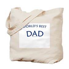 World's Best Dad (Navy) - Tote Bag