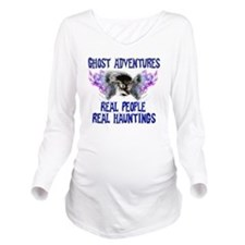 Ghost Adventures Blu Long Sleeve Maternity T-Shirt
