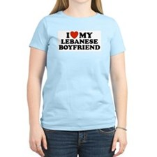 I Love My Lebanese Boyfriend Women's Pink T-Shirt