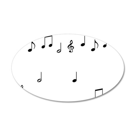 Music Notes 35x21 Oval Wall Decal