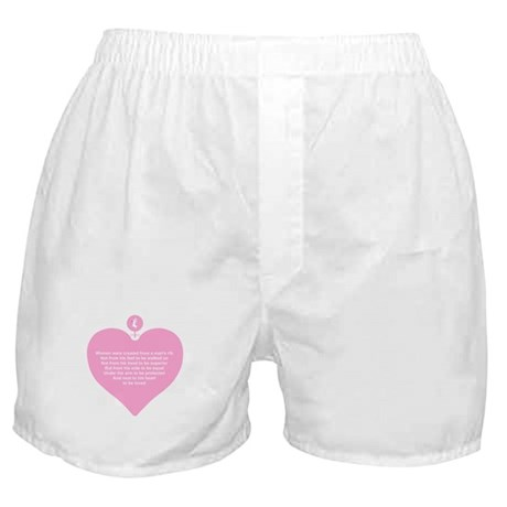 Pink Heart Boxer Shorts