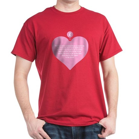 Pink Heart Dark T-Shirt