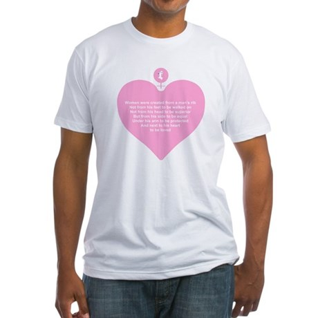 Pink Heart Fitted T-Shirt