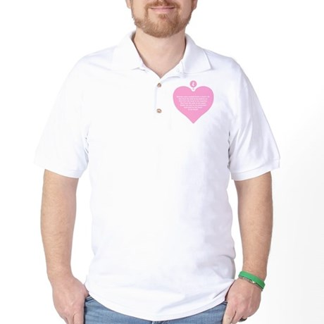 Pink Heart Golf Shirt