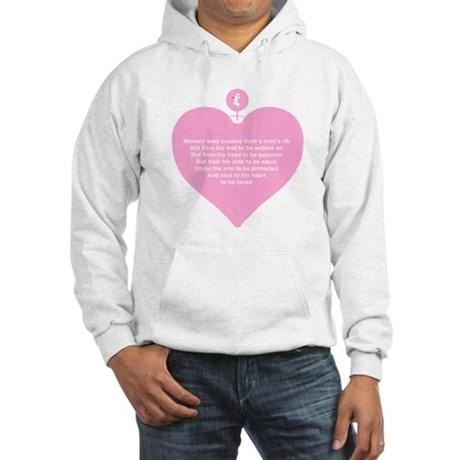 Pink Heart Hooded Sweatshirt